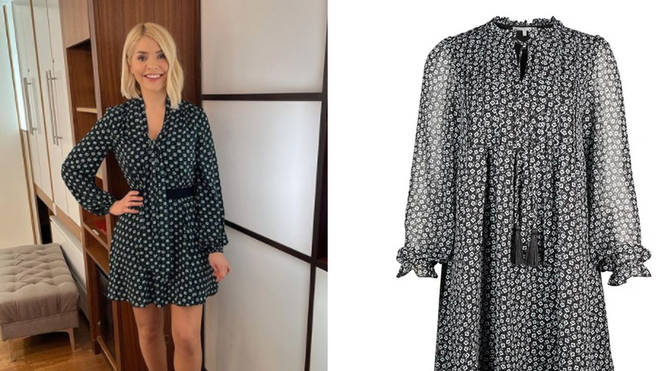 Holly Willoughby's dress is from Oliver Bonas