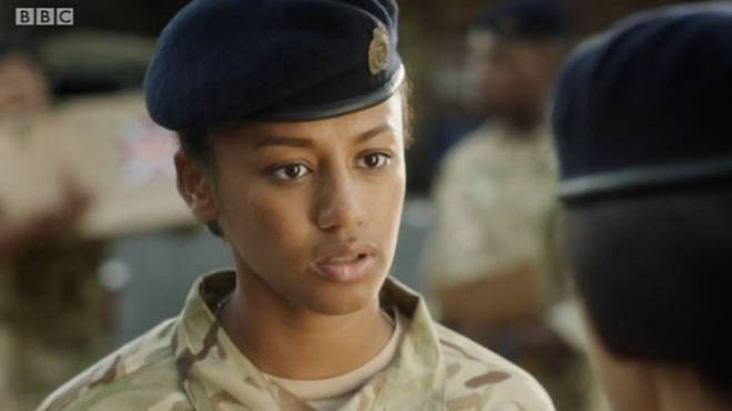 Shalom Brune-Franklin played Private Richards in Our Girl