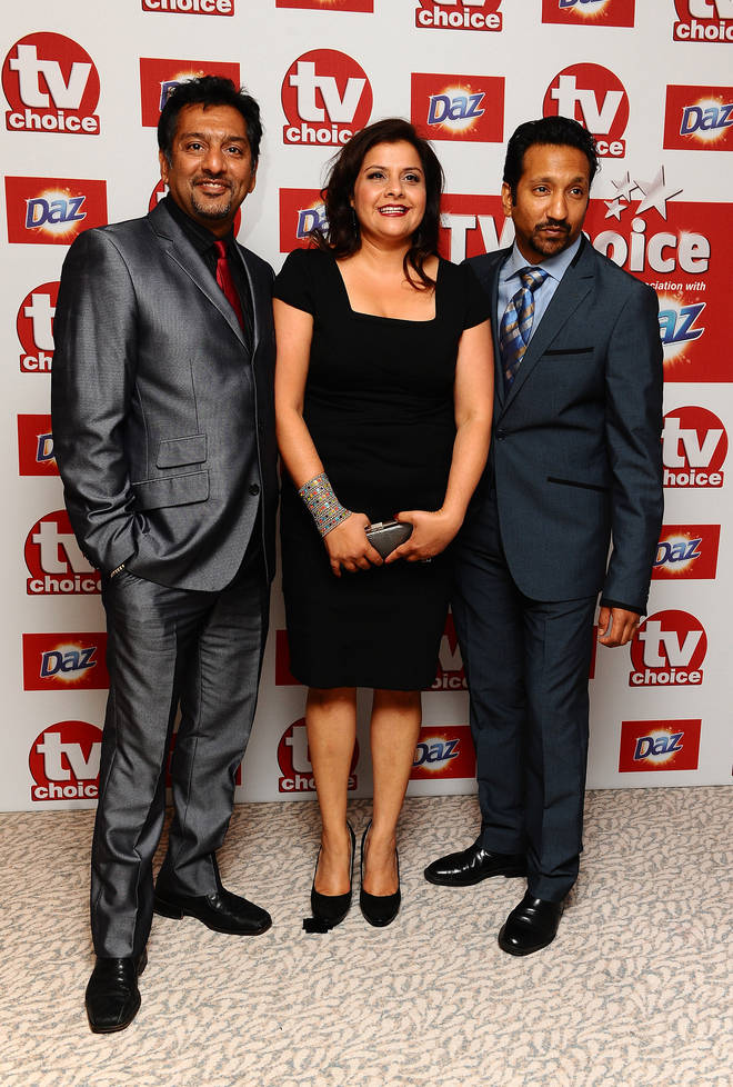 Phaldut Sharma alongside his former EastEnders co-stars Nitin Ganatra and Nina Wadia