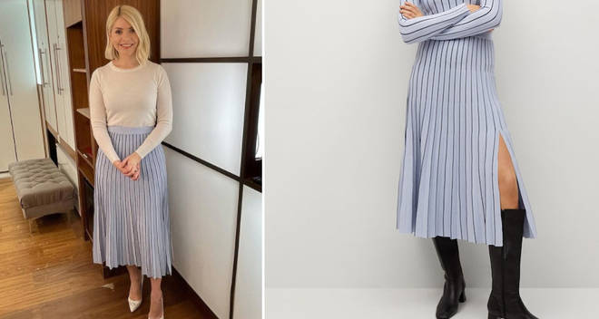 Holly Willoughby's skirt is from Mango on This Morning today