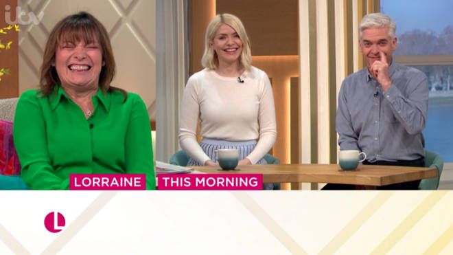 Lorraine, Holly and Phil hinted there was more to their bizarre behaviour