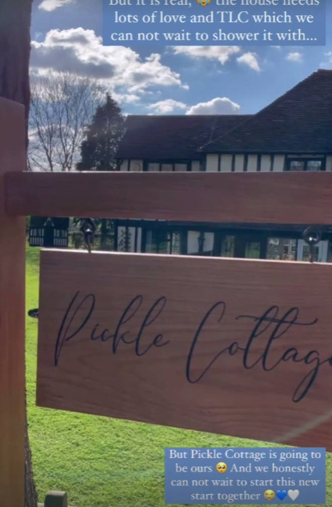 Stacey Solomon has nicknamed her house 'Pickle cottage'