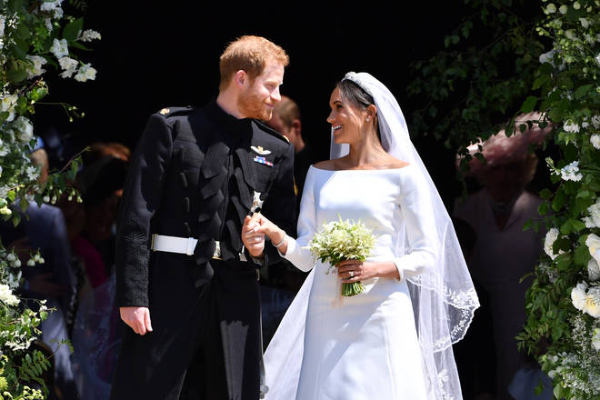 Meghan and Harry's spokesperson confirmed they had exchanged private vows in their garden three days before the royal wedding