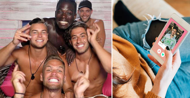 You can now apply to be on Love Island on Tinder (right: stock image)