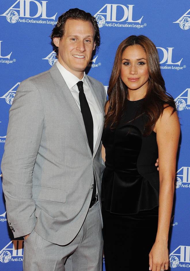 Meghan Markle with former husband Trevor Engelson