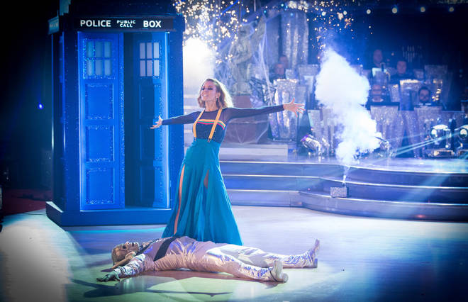 Stacey Dooley scored 35 points for her Dr Who-themed Tango