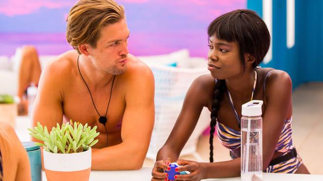 Cynthia Taylu and Aaron Shaw coupled up during Love Island Australia 2019