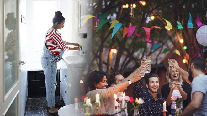 You will be able to go inside to use the bathroom when socialising outdoors from March 29