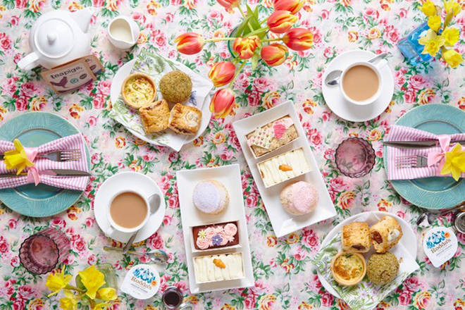 Hello Spring Vegan Afternoon Tea for Two with Piglet's Pantry