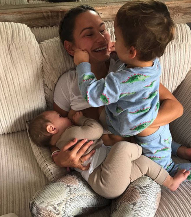 Sam Faiers and children