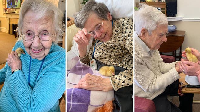 These care home residents have been treated to some fluffy company