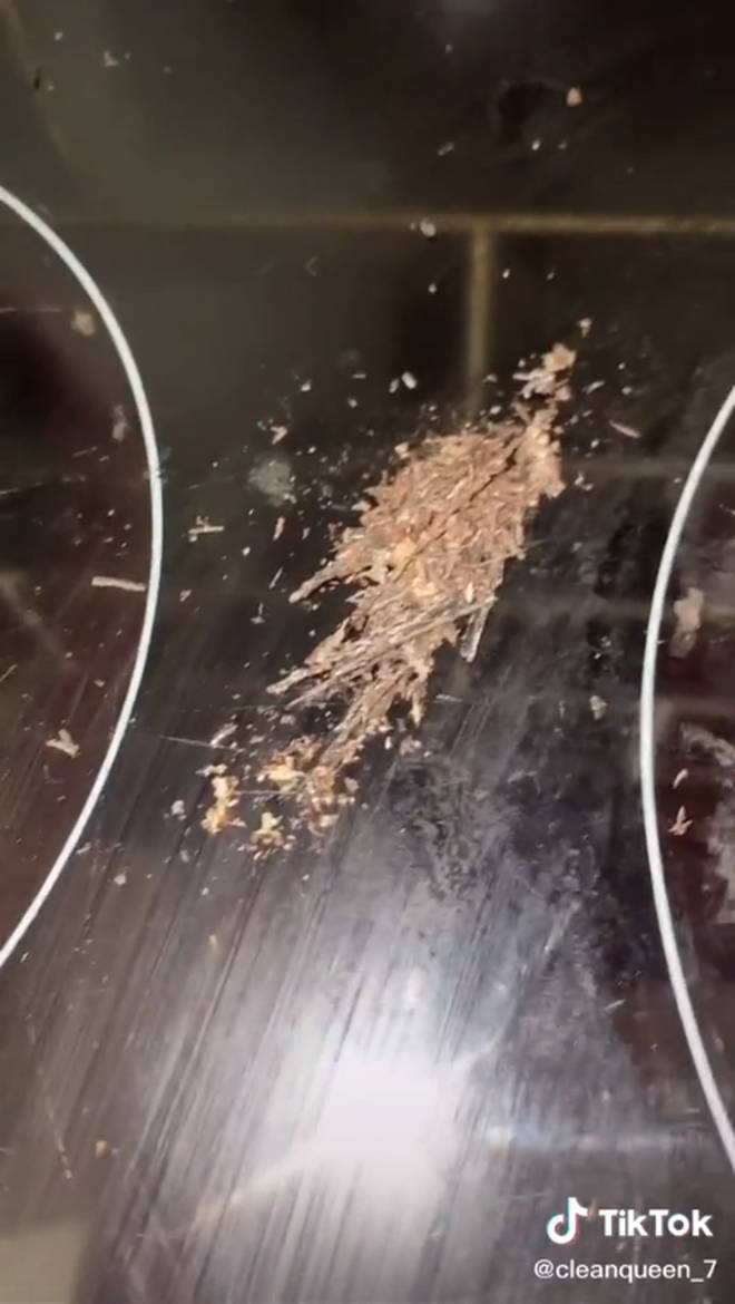 The product removed a huge amount of dirt from her hob