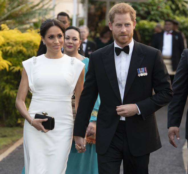 Meghan Markle and Prince Harry during their royal tour