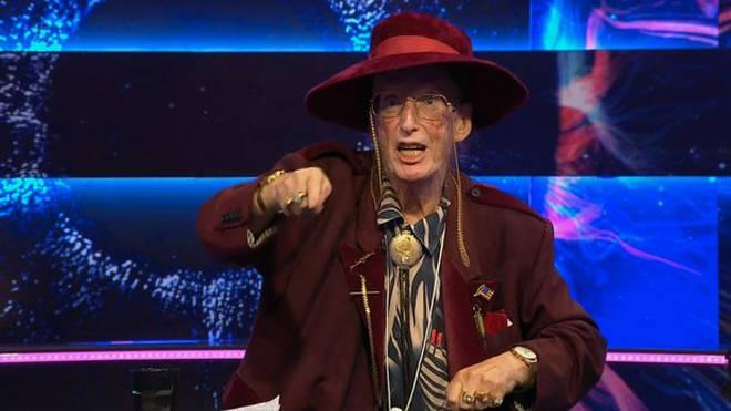 John McCririck looks gaunt on Big Brother's Bit On The Side