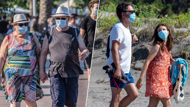 Face masks will be mandatory for all holidaymakers on Spanish beaches