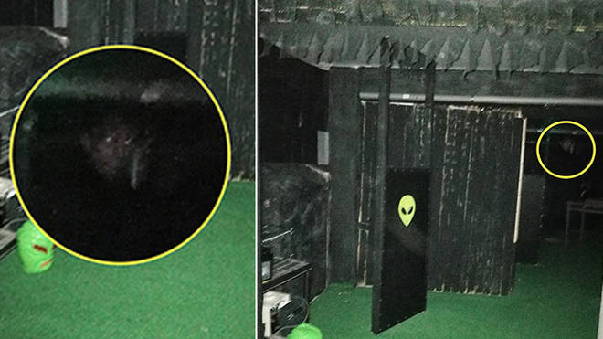 The monk's face was spotted in the photos after they had left the room