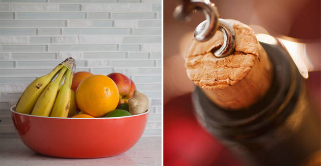 You can use a wine bottle cork to ward off fruit flies (stock images)