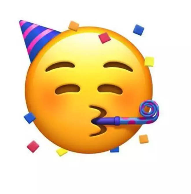 This party emoji is super cute!