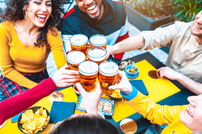 Pub beer gardens will reopen on April 12 (stock image)
