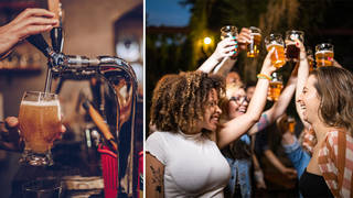 A small number of pubs will open at midnight on Sunday night (stock images)