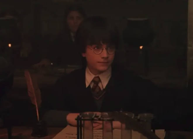 Harry Potter is seemingly picked on by Snape in his first Potions lesson
