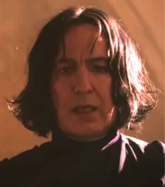 Snape picks on Harry in their first Potions class together