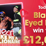 Black Eyed Peas are today's winning artist - their songs are worth £12,000!