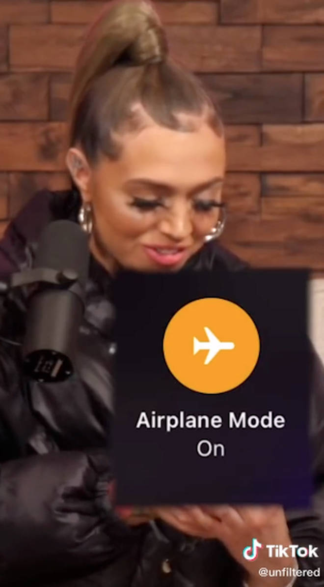 Woah Vicky revealed she puts her phone on airplane mode when she wants to hang up