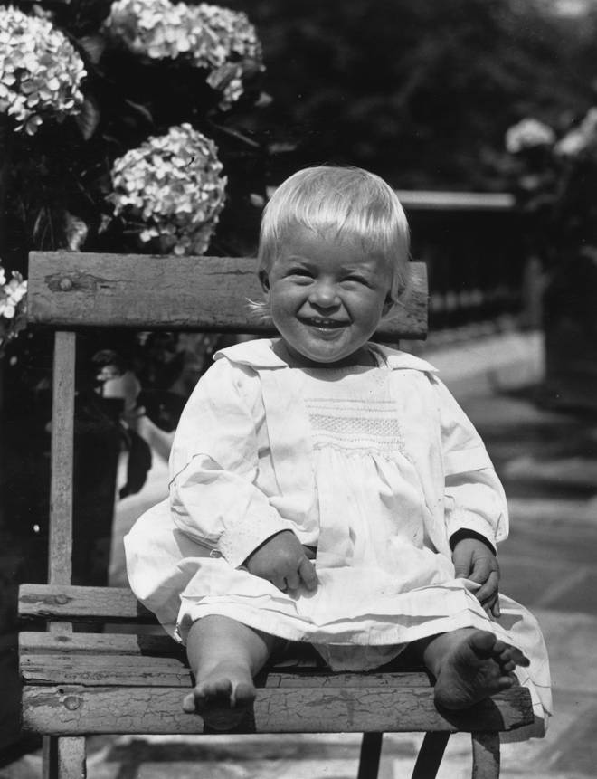 Prince Philip as a toddler taken in 1922