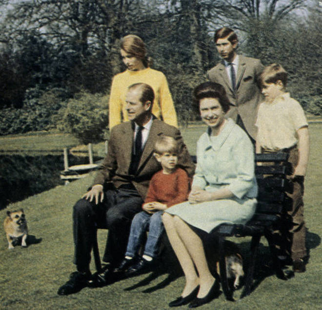 Prince Philip and family in 1968
