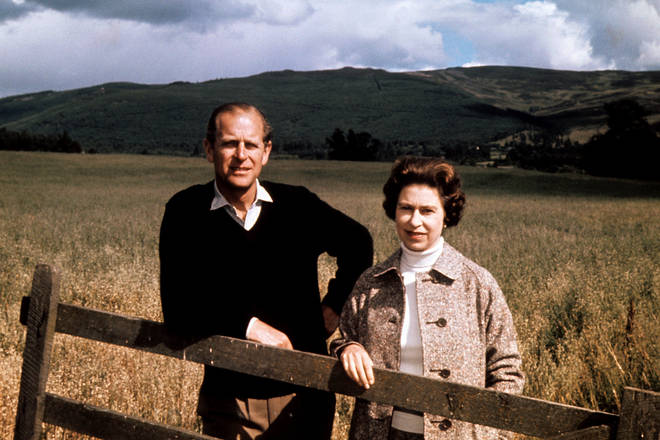 Prince Philip and the Queen in Balmoral in 1972 celebrating their Silver Wedding anniversary