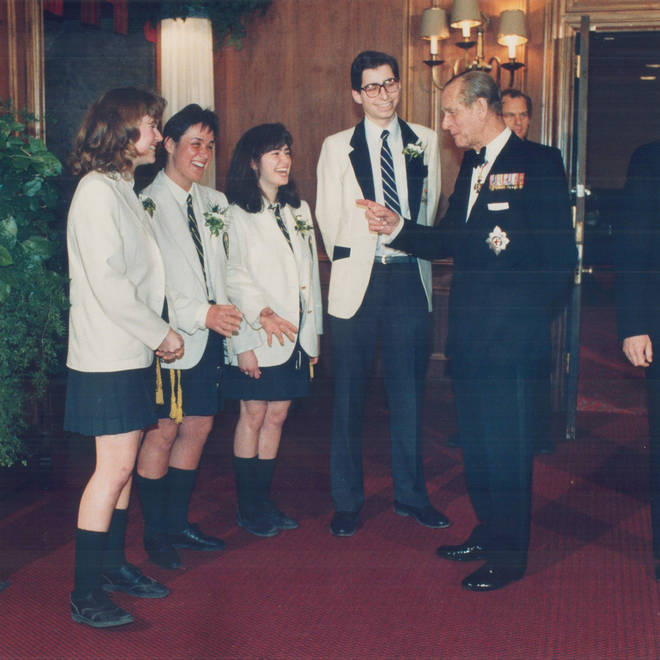 Prince Philip on his way into the Duke of Edinburgh Awards gala in Canada in1989