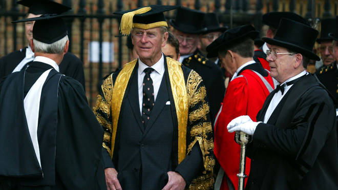 Prince Philip at the University of Cambridge in 2002