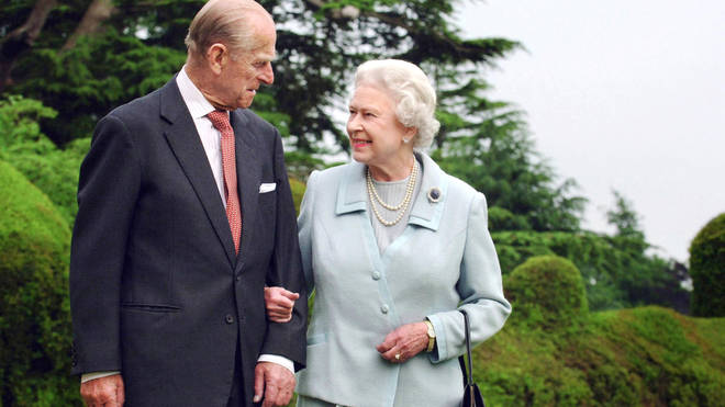 Prince Philip and the Queen in Broadlands in 2007