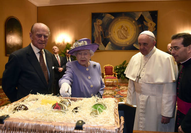 Prince Philip and the Queen on a visit to the Vatican in 2014