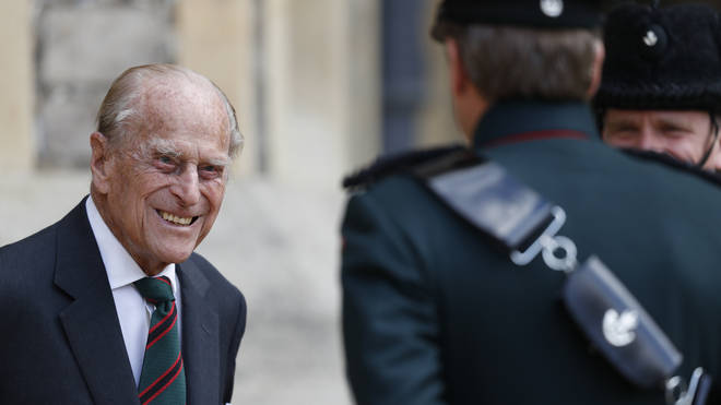 Prince Philip attends a ceremony for the transfer of the Colonel-in-Chief of the Rifles from the Duke to the Duchess of Cornwall.