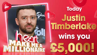 Justin Timberlake is today's winning artist - his songs are worth £5,000!