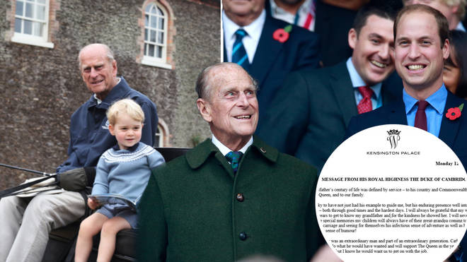 Prince William pays tribute to Prince Philip as he shares sweet unseen picture with Prince George