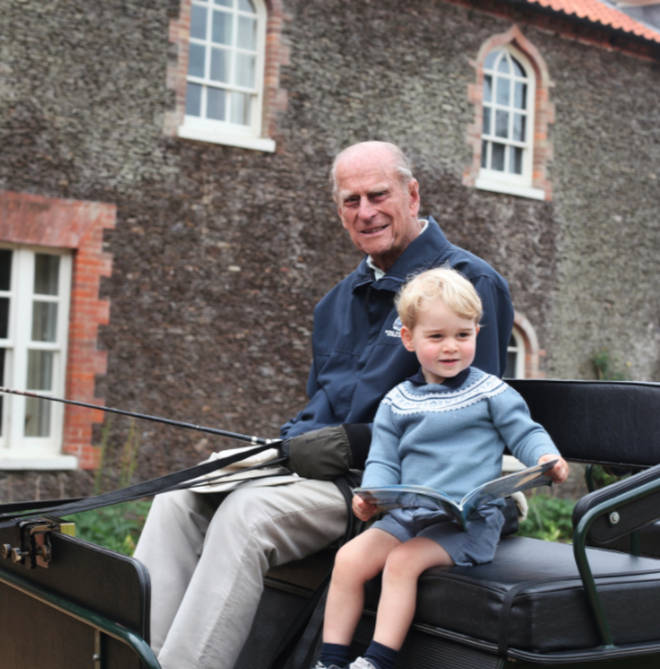 Prince William shared this sweet picture of a younger George with Prince Philip
