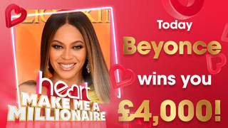 Beyonce is today's winning artist - her songs are worth £5,000!