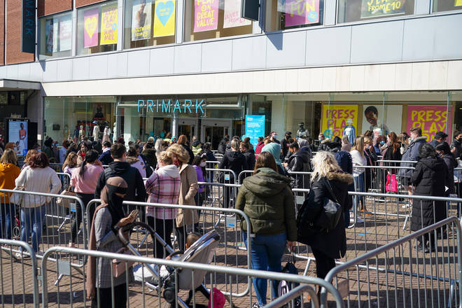 Eager shoppers have been queuing outside Primark stores across England and Wales