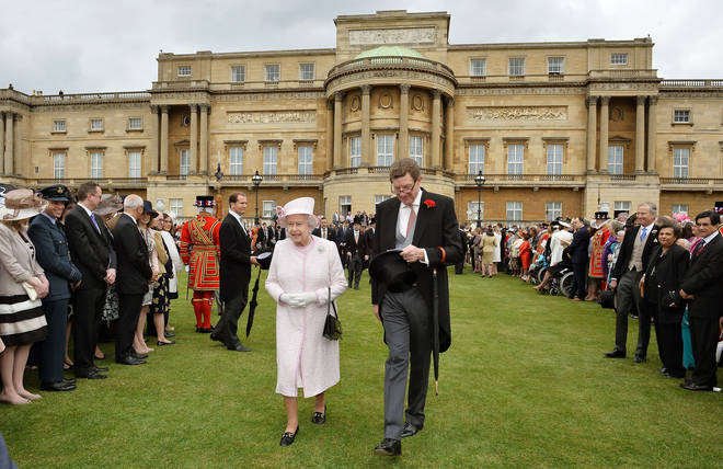 The Queen photographed with Earl Peel in 2013