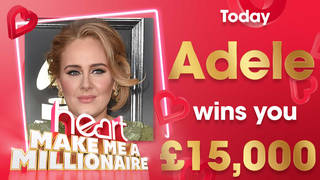 Adele could win you £15,000 today!