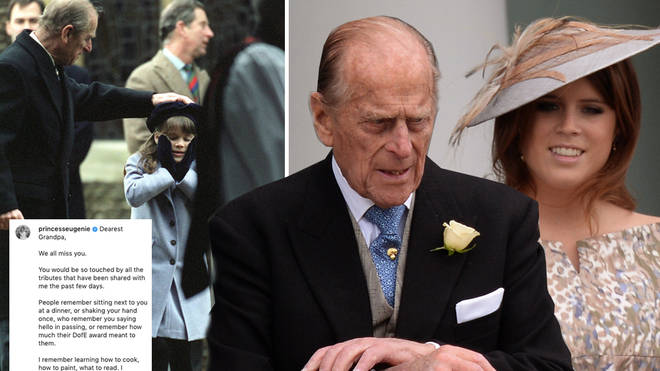 Princess Eugenie posted a special tribute to Prince Philip following his death