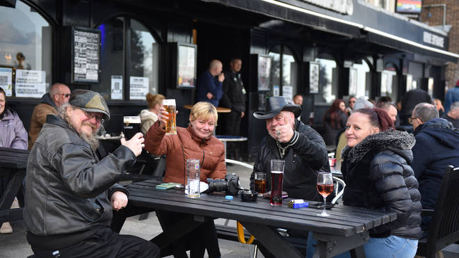 Pub gardens in England have been open since Monday