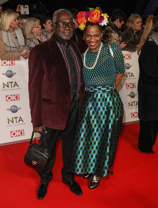 Rudolph Walker and former co-star Suzette Llewellyn