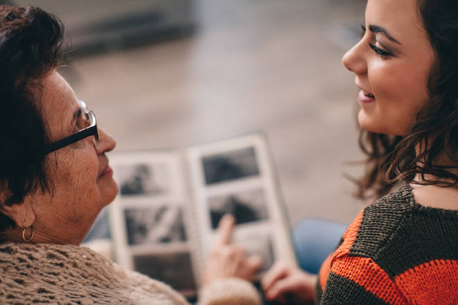 Older relatives can help by sharing their memories and going through old photos