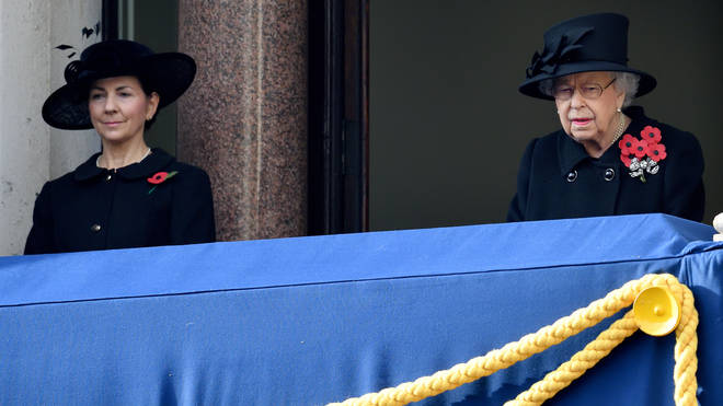 Susan Rhodes is one of the Queen's ladies in waiting and could attend the funeral alongside Her Majesty