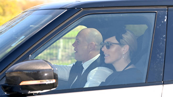 Zara Tindall and her husband Mike Tindall arrive at Windsor Castle