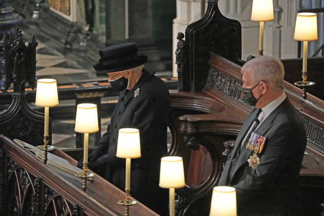 The Queen wears the Richmond Brooch for Prince Philip's funeral